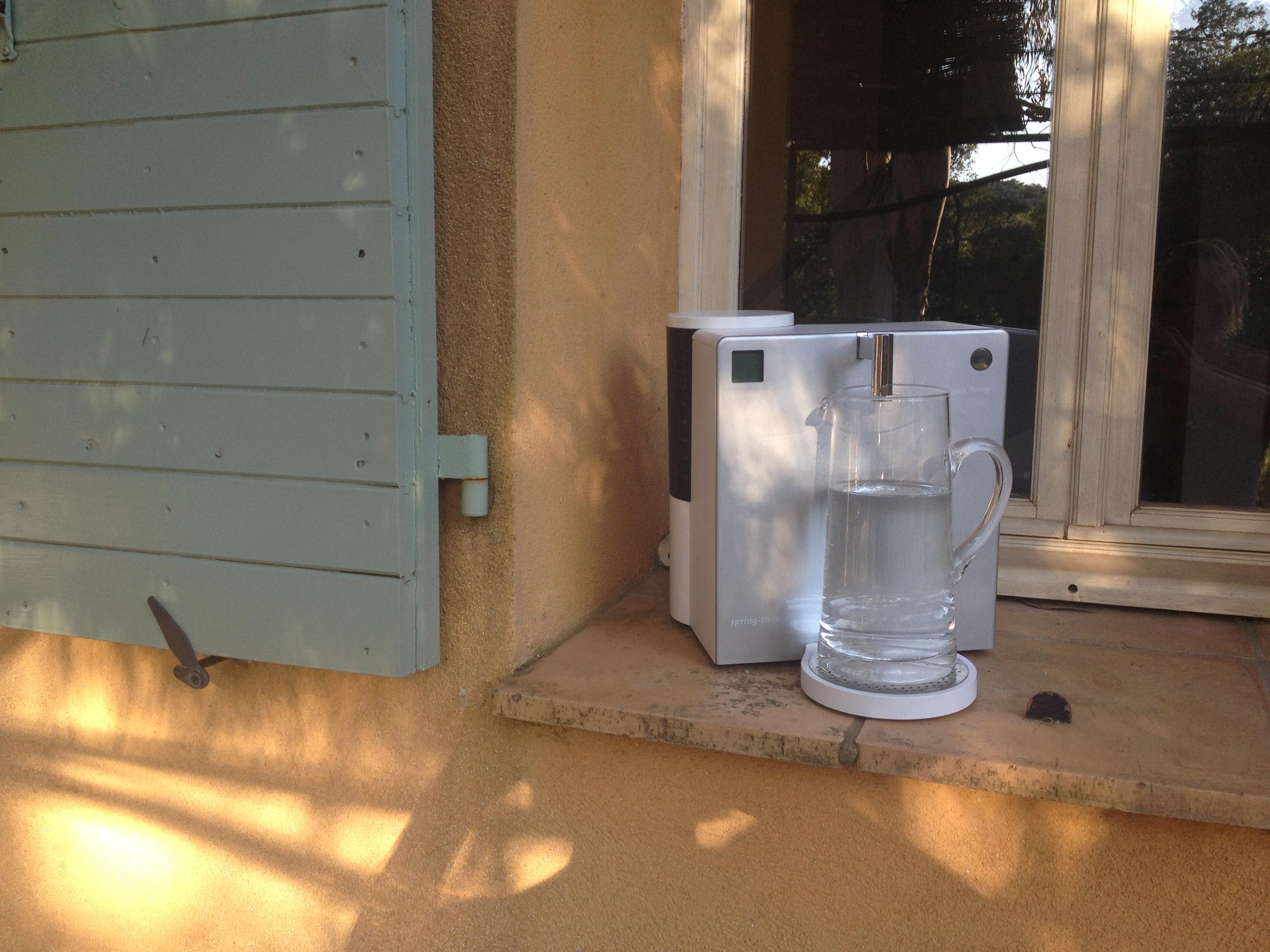 Mit dem sprint-time Wasserfilter in Frankreich